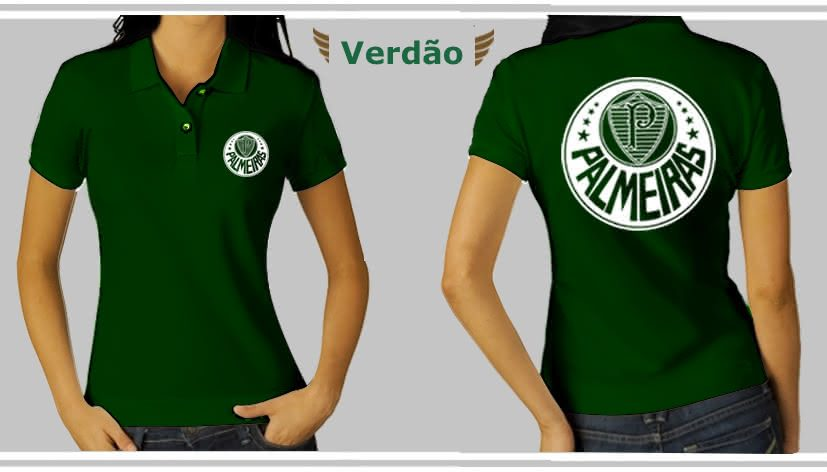acc1a6e398a97 Camisetas Femininas do Palmeiras